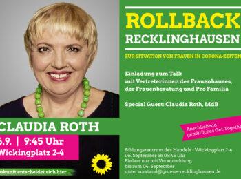 Claudia Roth - Rollback Recklinghausen