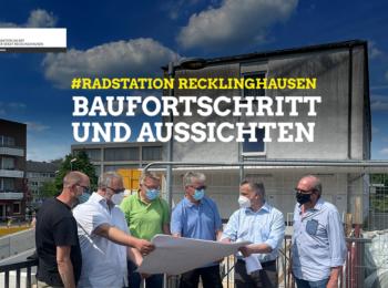 von links nach rechts: Mathias Bachmayer (CDU), Benno Portmann (CDU), Volker Schäper-Beckenbach (die Grünen), Peter Brautmeiner (die Grünen), Krzysztof Rajewicz (Stadtverwaltung) und Friedhelm Baumgarten (CDU)